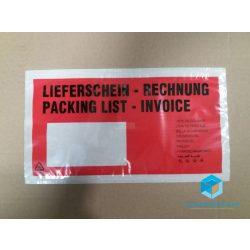 LD nyomtatott okmánytasak LA4 Long bal ablakos (1000db/csomag)