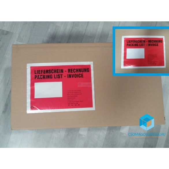 C5 nyomtatott okmánytasak bal ablakos (1000db/csomag)